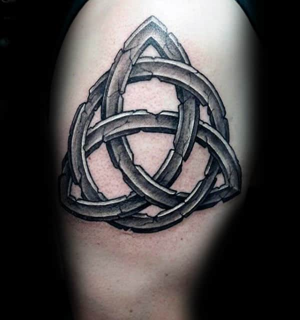 60 triquetra tattoo designs for men trinity knot ink ideas for 3d stone tattoo design