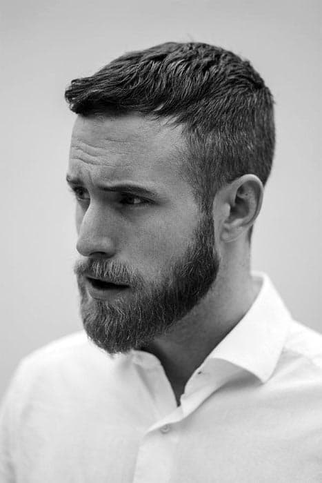Masculine Hairstyles For Males With Beards