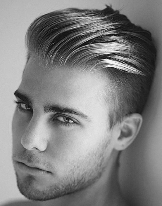 Masculine Hairstyles With Shaved Side For Men