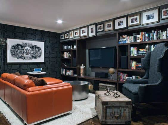 Masculine Home Basement Decor Ideas