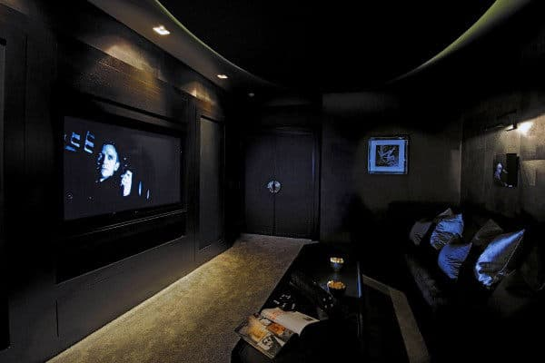 Masculine Home Theater For Guys