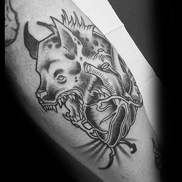 Masculine Hyena Tattoos For Men
