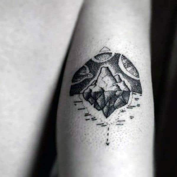 Masculine Iceberg Tattoos For Men