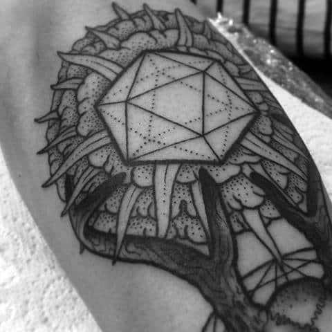 Masculine Icosahedron Tattoos For Men