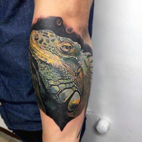 Masculine Iguana Tattoos For Men