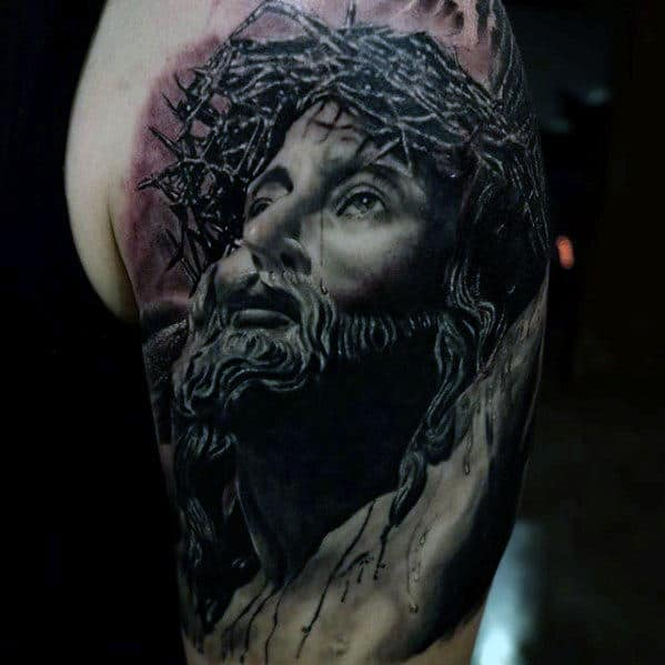 Masculine Jesus 3d Guys Arm Tattoos