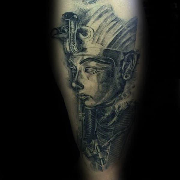 Masculine King Tutankhamun Arm Tattoos For Males