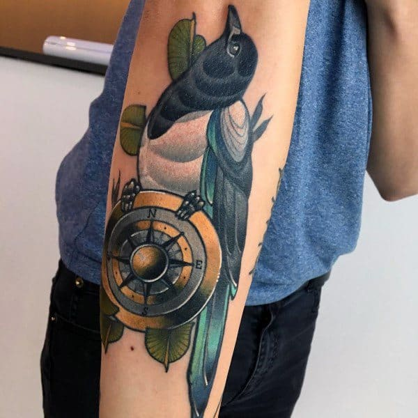 Masculine Magpie Tattoos For Men
