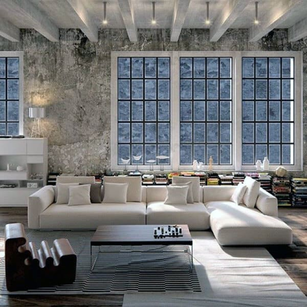 100 bachelor pad living room ideas for men masculine designs Loft living room ideas