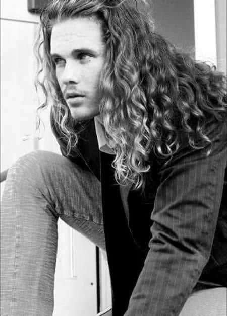 Masculine Male Long Length Curly Haircuts