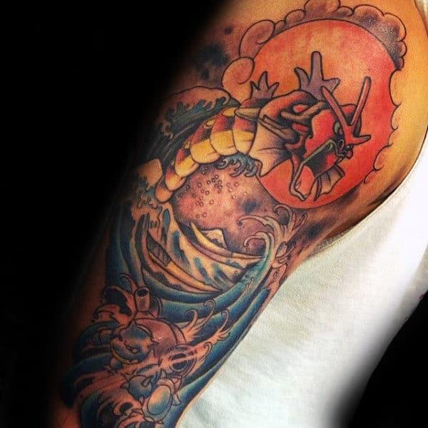 Masculine Male Pokemon Half Sleeve Tattoo Ideas