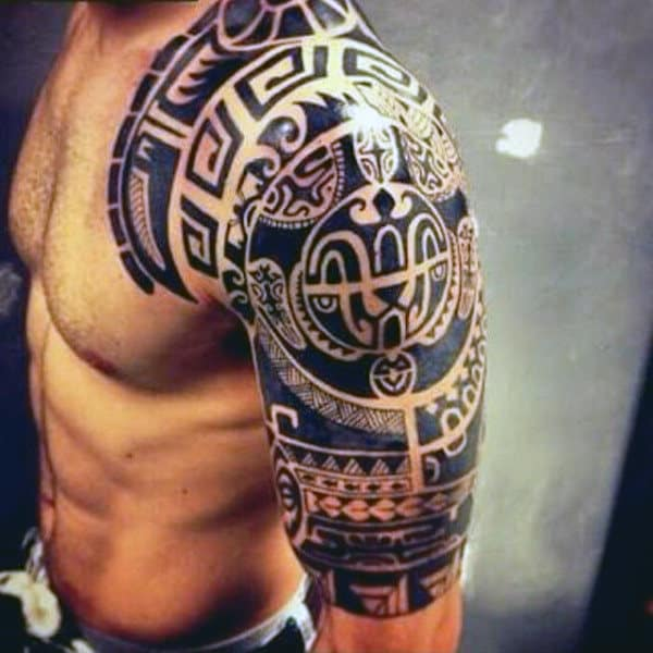 Masculine Male Tribal Half Sleeve Tattoo Ideas