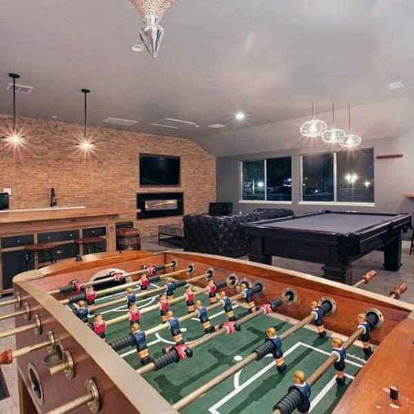 Basement Decorating Ideas For Men: Cool Home Entertainment Designs