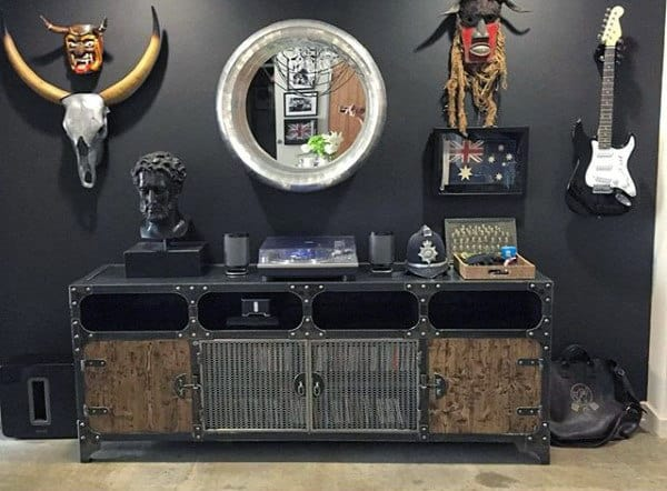 Masculine Media Stand Man Cave Furniture