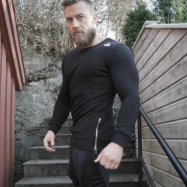 Masculine Medium Beard Inspiration Styles For Gentlemen