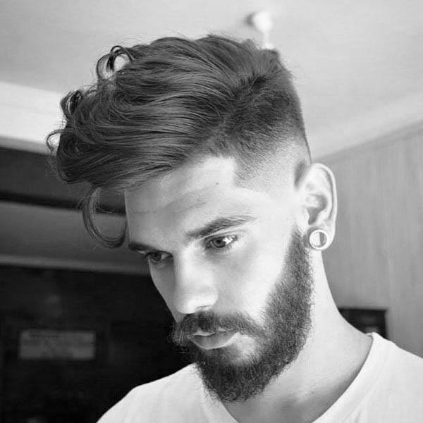 Masculine Medium Length Hairstyles For Men With Thick Hair Fade