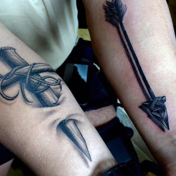 Masculine Men's 3D Tattoos Sword