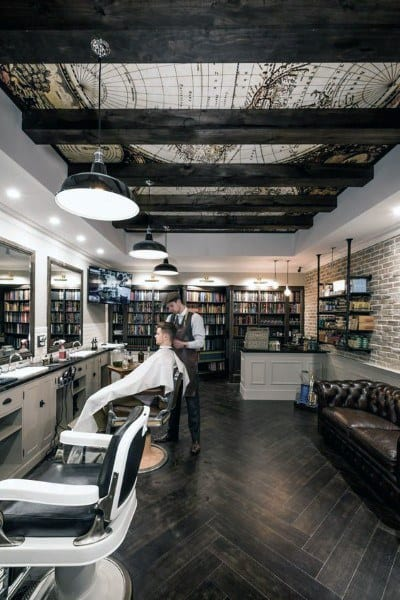 Masculine Mens Barber Shop Designs