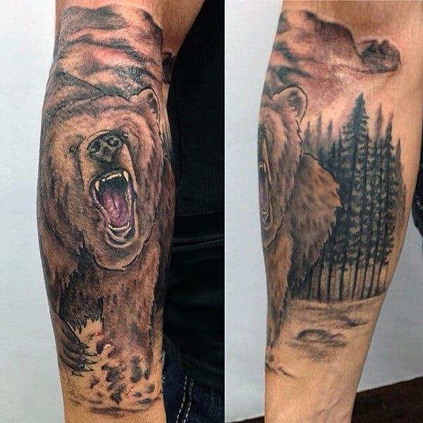 Masculine Men's Bear Tattoo Ideas