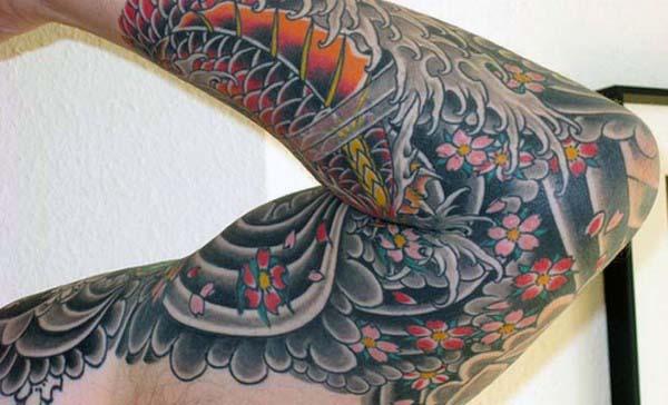 Masculine Men's Flower Arm Tattoo Ideas