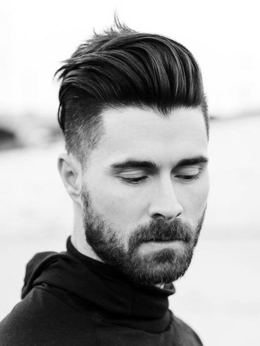 Masculine Mens Low Skin Fade Haircut