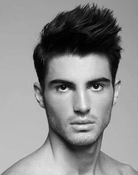Masculine Mens Medium Hairstyles Thick Hair