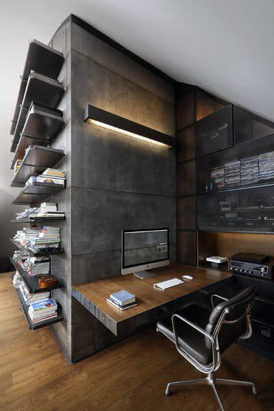 Masculine Mens Modern Home Office
