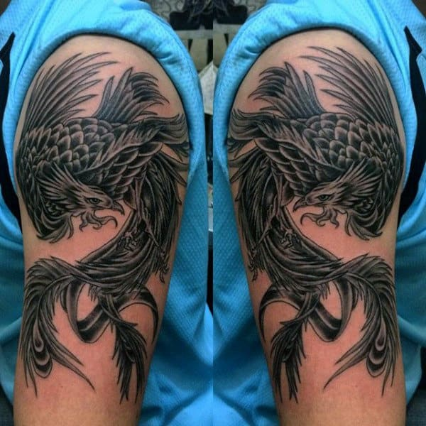 Masculine Men's Phoenix Arm Tattoo