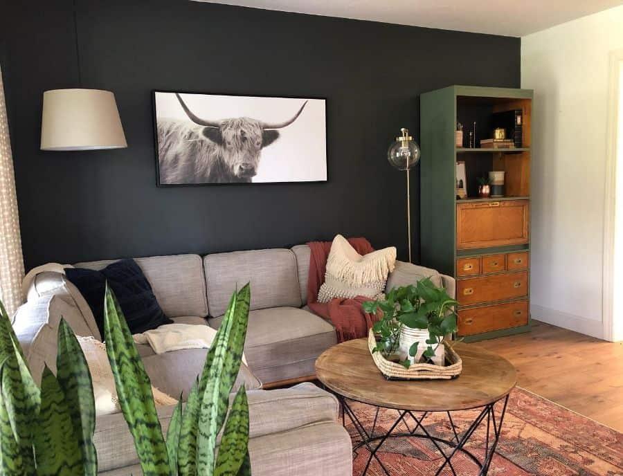 Masculine Mid Century Modern Living Room Lynetteyoder