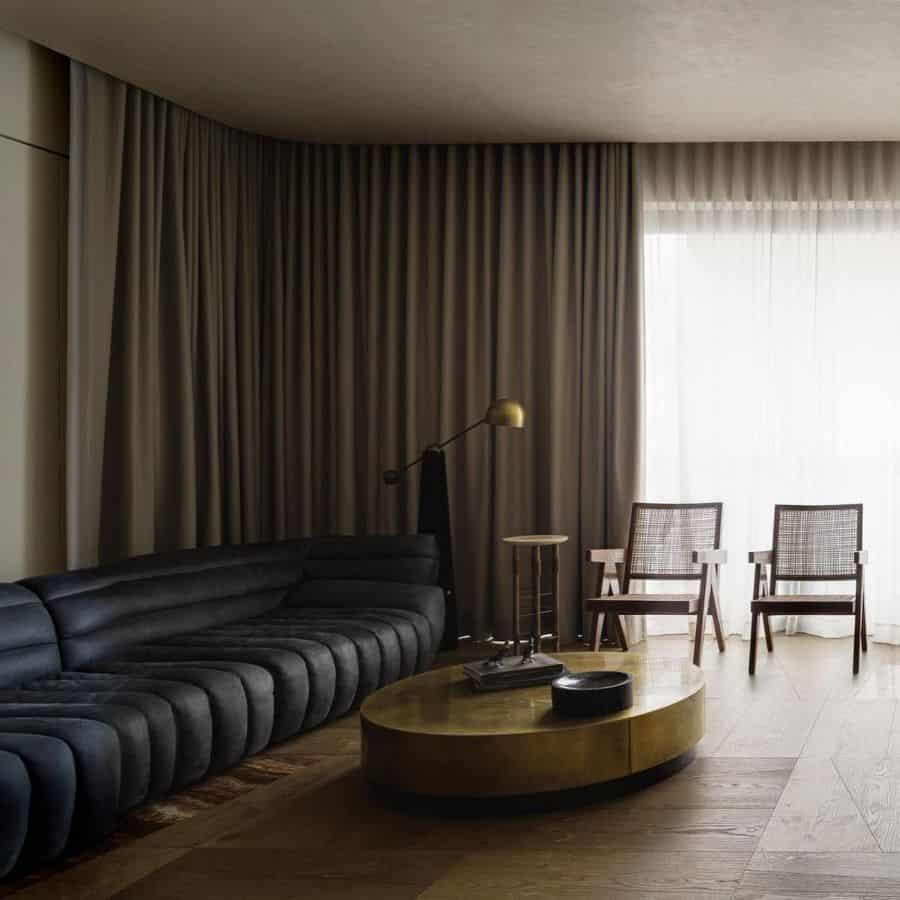 Masculine Mid Century Modern Living Room Magdainspiration