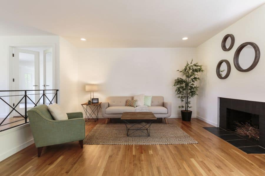 Masculine Mid Century Modern Living Room