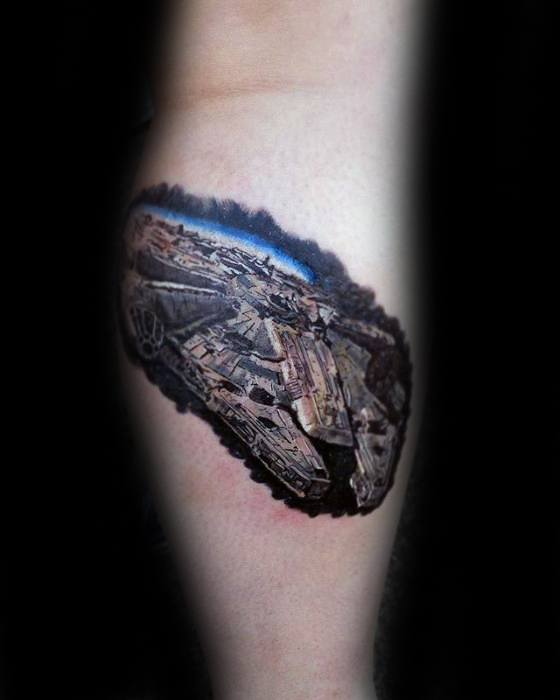 Masculine Millennium Falcon Tattoos For Men