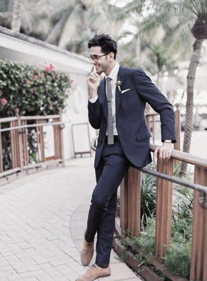 Masculine Navy Blue Suit Style Ideas For Men
