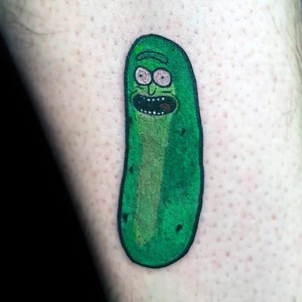 Masculine Pickle Rick Tattoos For Men