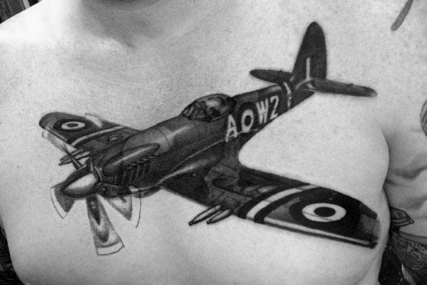 Masculine Propeller Tattoos For Men