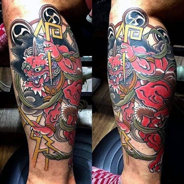 masculine-raijin-tattoos-for-men