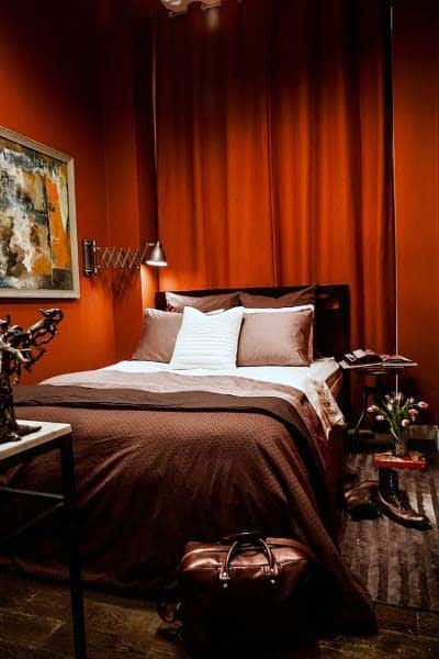 Masculine Red Bedroom Ideas