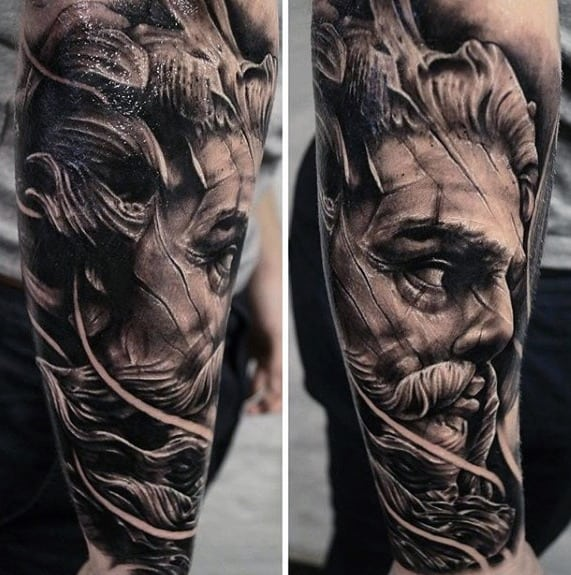 Masculine Roman Statue Tattoos For Men