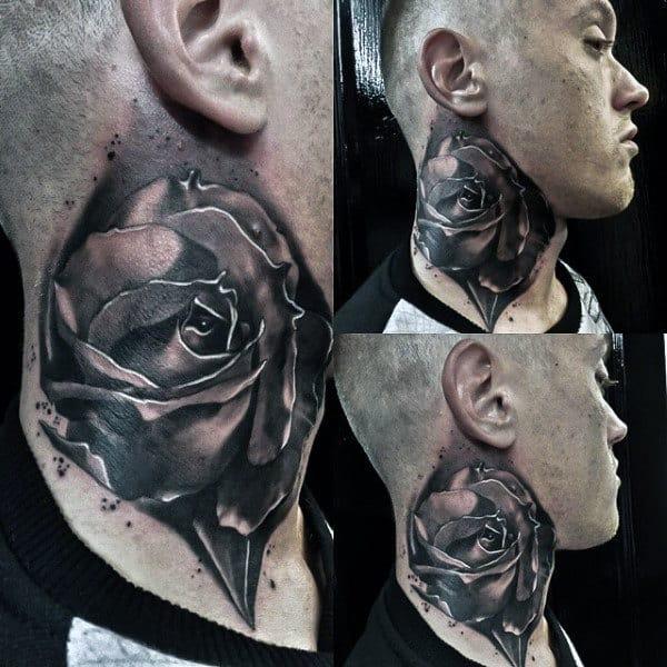 fd0adc212d521 80 Throat Tattoos For Men - Cool Masculine Design Ideas