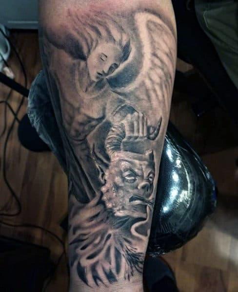 Masculine Saint Micheal Tattoo Design Inspiration For Men