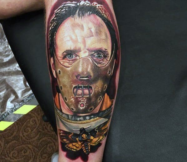 Masculine Scary Movie Tattoos For Men