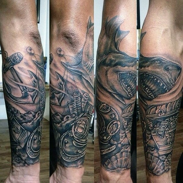 Masculine Shark Tattoo Designs For Men