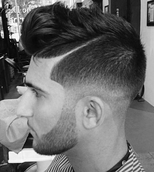Masculine Shaved Sides Hairstyles