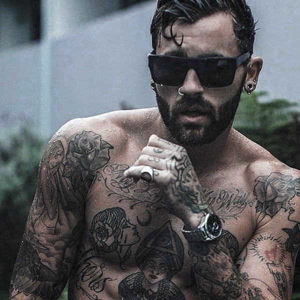 Masculine Short Hair With Beard Styles For Gentlemen