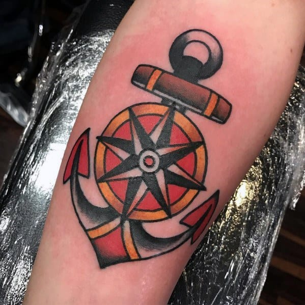 Masculine Simple Anchor Tattoos For Men