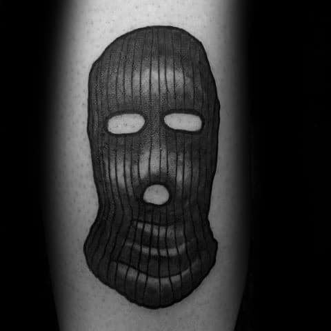 Masculine Ski Mask Tattoos For Men