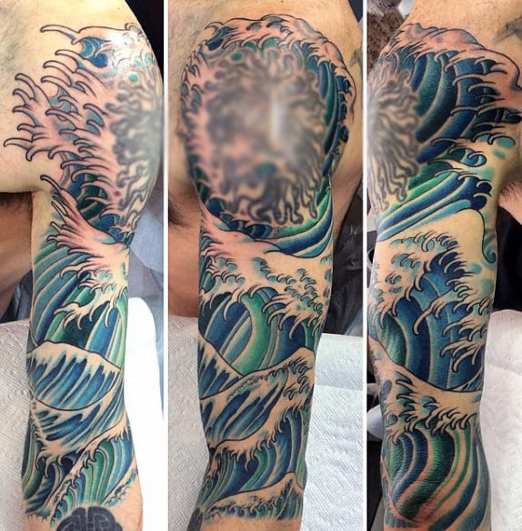 Masculine Sleeve Tattoo Designs Water For Men