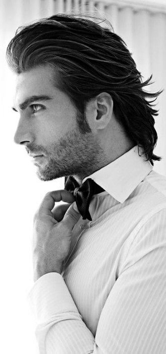 Masculine Slicked Back Flow Hairstyles For Males