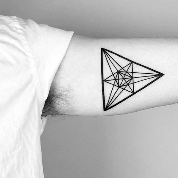 c28e797b1 Masculine Small Geometric Tattoos For Men On Inner Arm Bicep