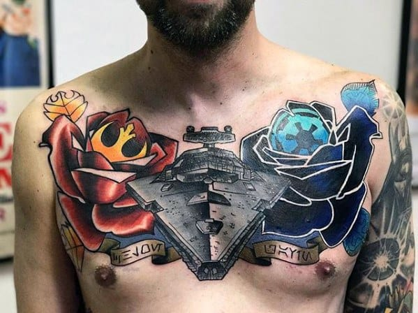 Masculine Star Destroyer Tattoos For Men